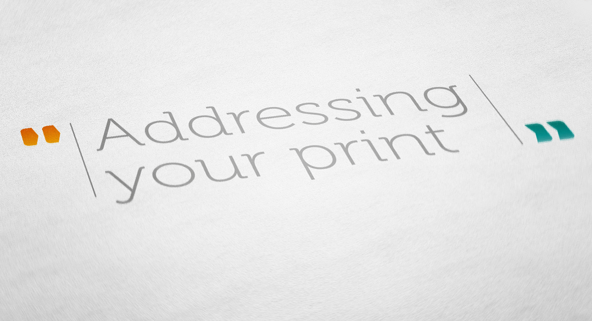 Addressing-your-print
